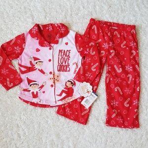 NWT Girl's Holiday Pajama Set